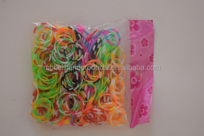 High Quality Natural Multi Color Elastic Loom Rubber Band