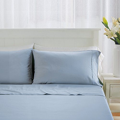 King/ California King Blue Silky Soft Duvet Covers 100% Viscose from Bamboo