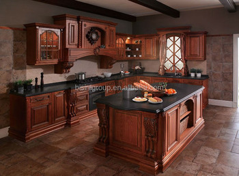 Style Américain En Bois Meubles De Cuisine De Luxe Antique Armoires De  Cuisine Design Traditionnel Personnalisé Armoires De Cuisine (bf08-7034) -  Buy ...