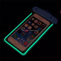 High Quality Sealed Below 6inch Cellphone Universal Noctilucent Waterproof Bag For iPhone 6 Plus