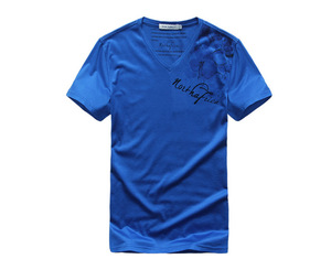 garments supplier in china design blue t-shirts for mans 2016