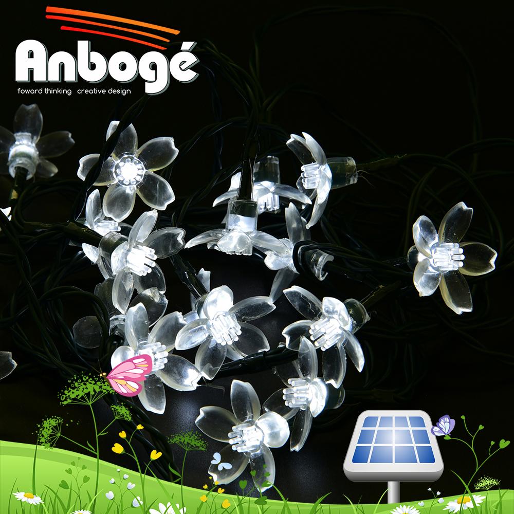 Nieuwe producten kunstbloemen 20LED Dubbele lotus LED solar strig ...