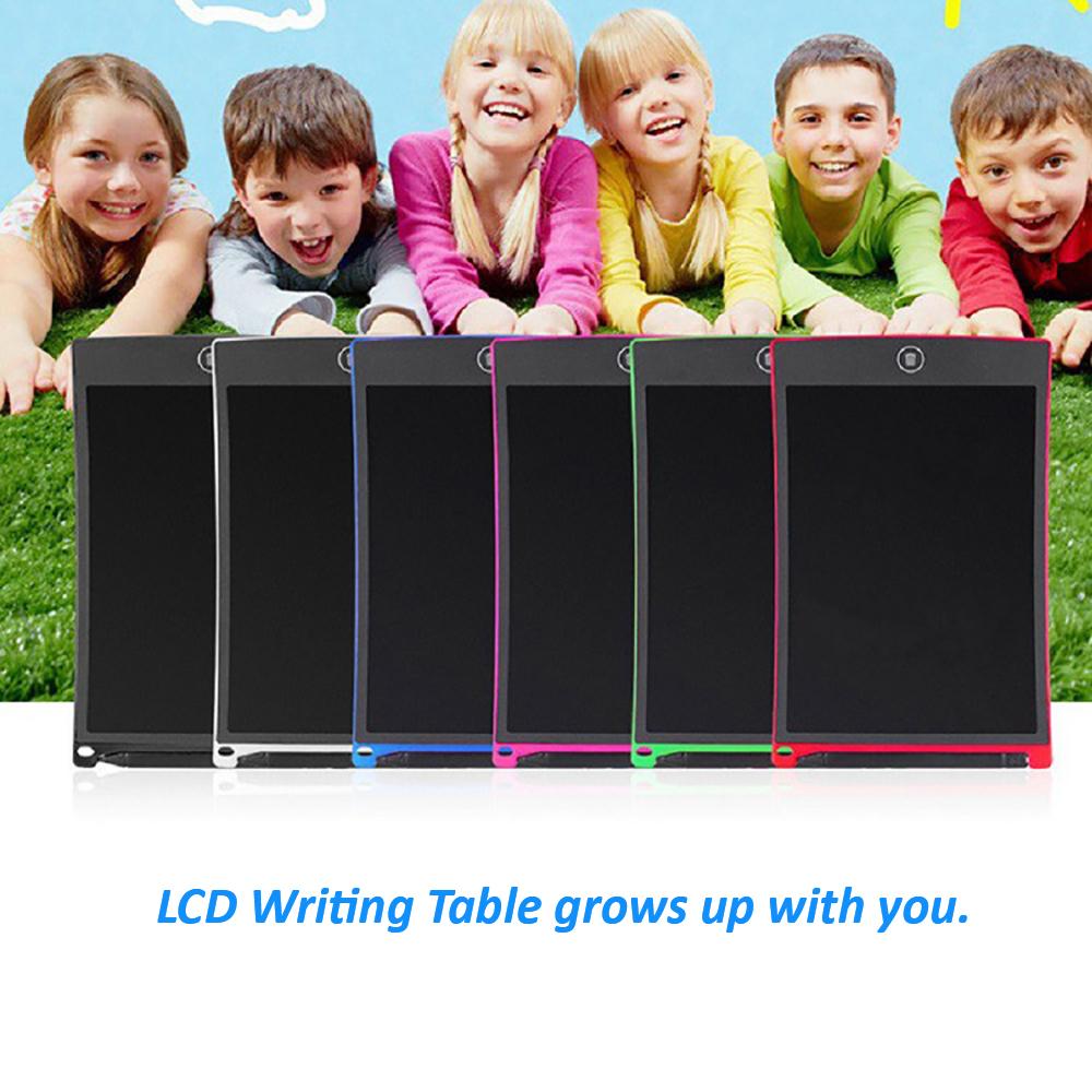 Blanco LCD escritura Tablet 12 pulgadas electrónicos gráfico tableta Digital dibujo letra Junta almohadillas para los niños de la Oficina