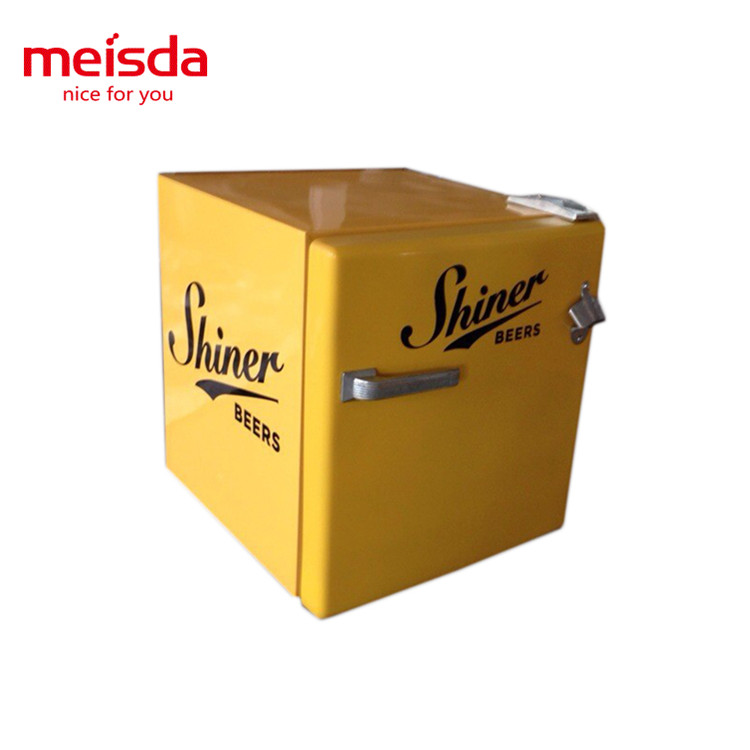 52 liters absorbing mini beverage beer drink cooling retro style fridge with one door