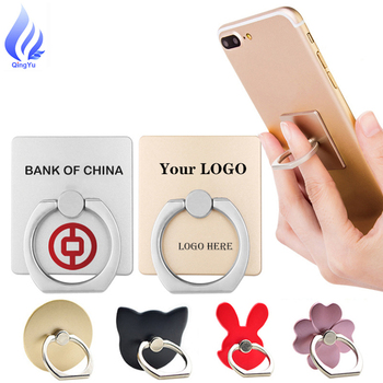 High Quality Trending Products Custom logo Stand Mobile Cell 360 Degree Finger Ring Phone Holder For Phone