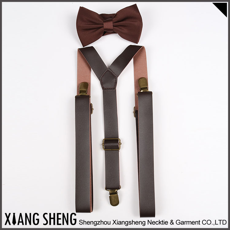 New Style Fashion Leather Suspender For Man