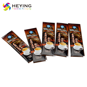 2018 new design milk tea heat sealing bag plastic powder coffee sachet,packaging film roll bag for coffee