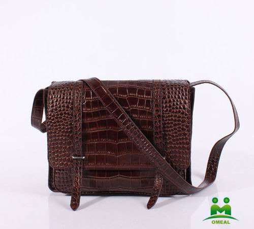high quality coffee alligator pattern leather men messenger bags fashion crossbody bag C2-207 dropship fast delivery