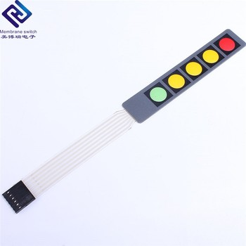 Single Embossed button tactile Membrane Switch with connector