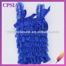 royal blue lace tank tops for children