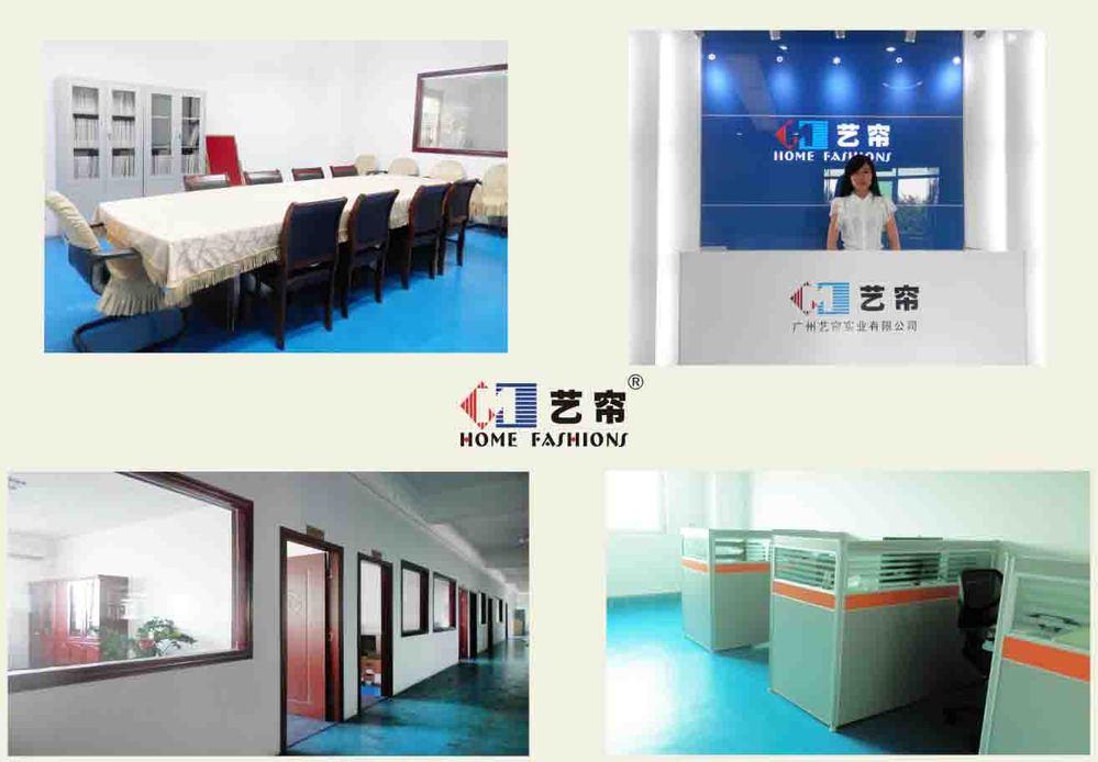 Guangzhou usine personnalisée pas cher rideaux pour rideaux de