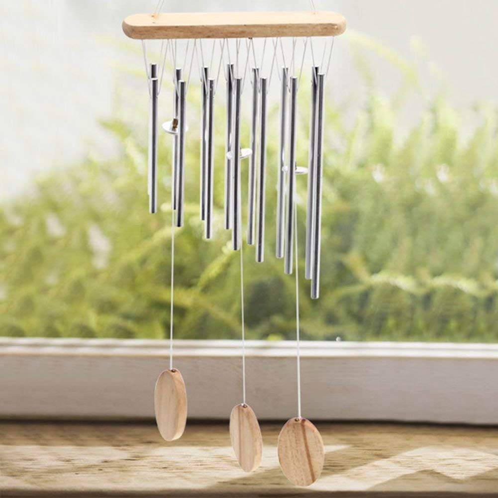 Qchomee Outdoor Living 14 Metal S Bells Wind Chimes Amazing Anti Rust Chime For