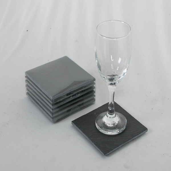 Top quality slate coaster/ slate cup holder/rectangle slate coaster 10X10cm