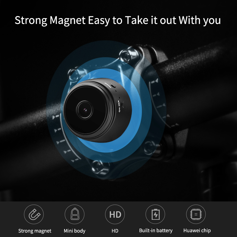 Strong magnetic adsorption MEISORT  A9 BK Portable Mini Smart tracking camera