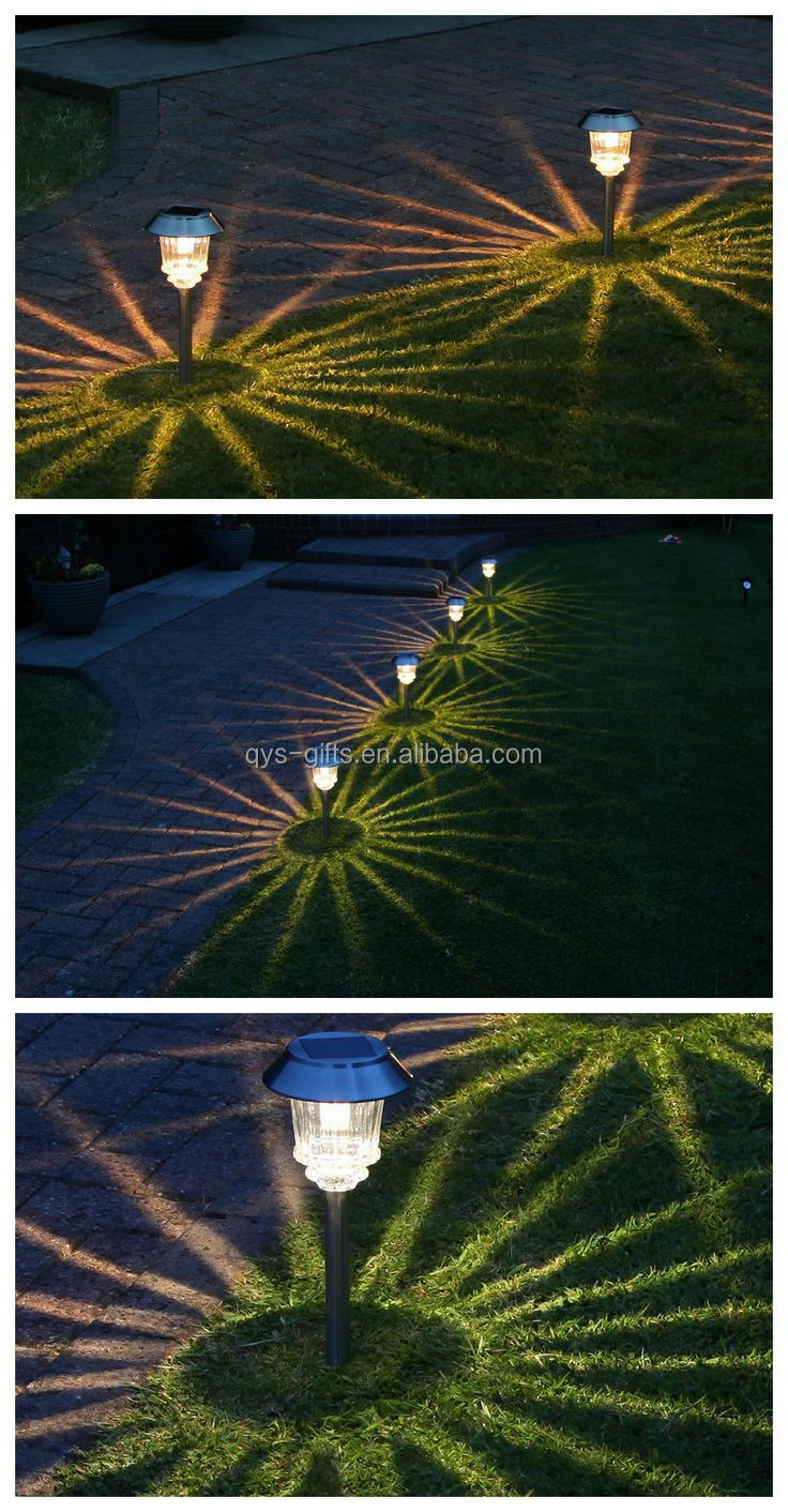 Plastic Colorful Christmas Candy Cane Solar Stake Path Light