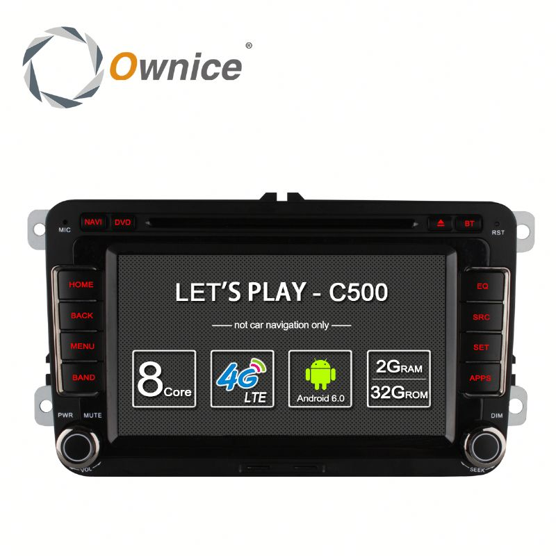 2 din Android Octa core auto radio for VW Jetta polo Golf with GPS RDS Wifi Built 4G lte support DAB mirror