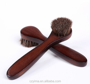 Soft horse hair shoe brush portable and convenient shoe brush shoe oil brush