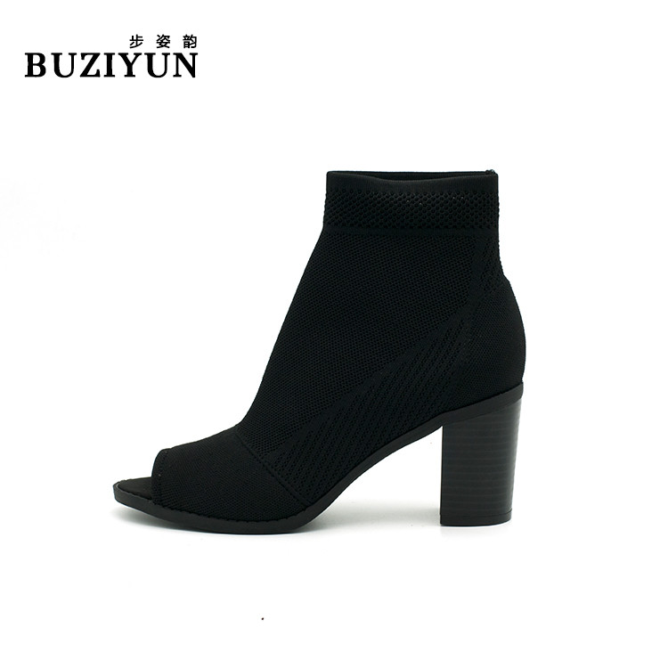 High Heel Boots Open Toe Ankle Shoe Boot Perfect for Casual Day or Night Wear
