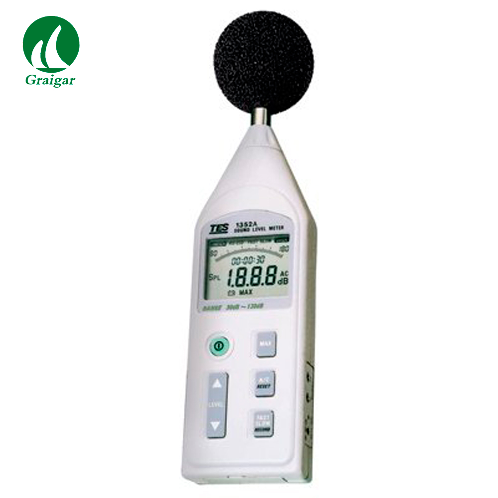 TES-1352S Digital Sound Level Meter Datalogging Sound Level Alarm Output