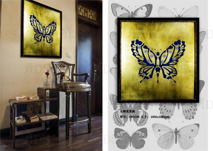Framed Handmade Butterfly Home Goods Wall Art Canvas ...