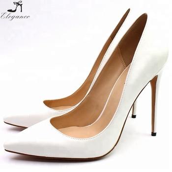 1f06cd026e1 Beauty Girls Lvory White PU 12cm High Heels Shoes Women Hot Ladies Wedding Dress  Pumps Size