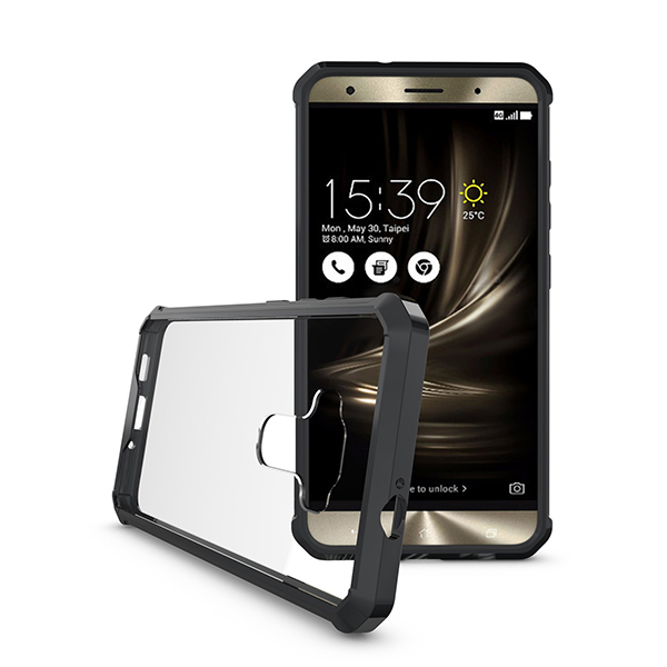 Amazon Factory Wholesale OEM / ODM TPU+PC Hybrid Case Shockproof Hybrid Mobile Phone Back Cover For Asus Zenfone 3 ZE552KL 5.5''