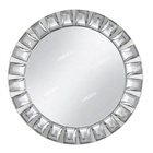 Luxury Royal Dinning Jeweled Diamond Mirror Charger Plate With Rhinestone For Wedding