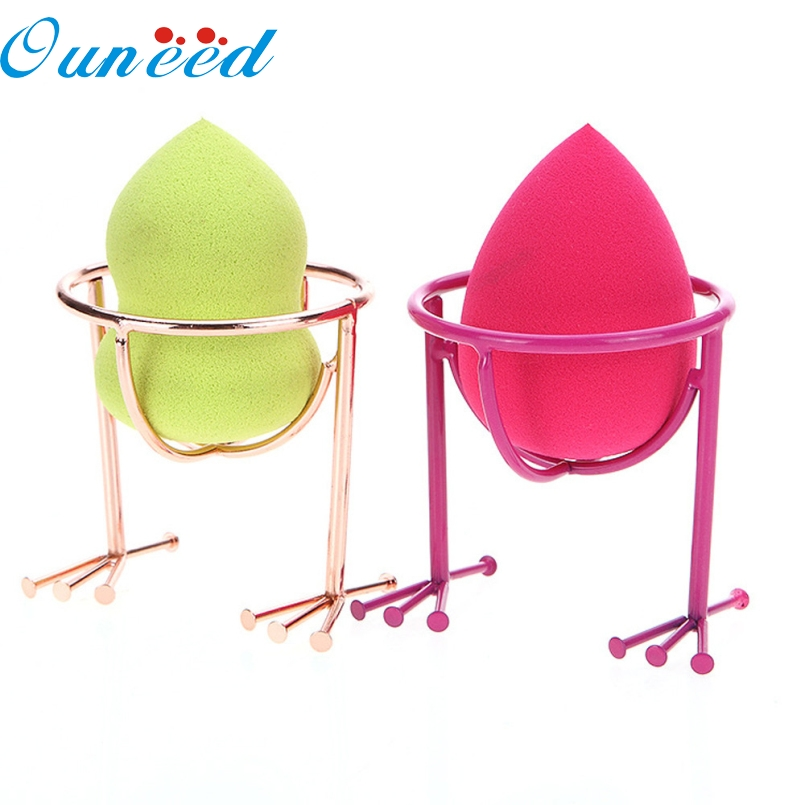 ouneed top grand pcs makeup beauty stencil egg powder puff sponge display stand drying holder rack