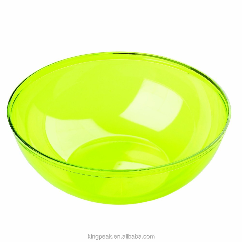 2019 Hot Sale 3.5L BPA free Plastic Mixing Salad Bowl/acrylic Salad Bowls/Serving Bowl for outdoor and picnics