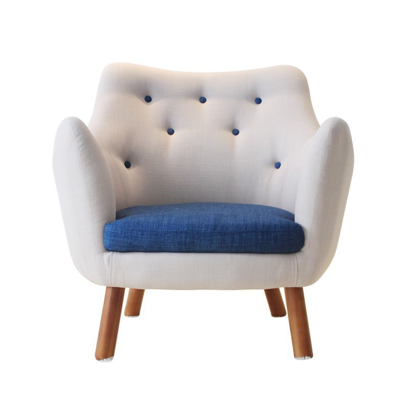 Solid wood Nordic American style single person chair