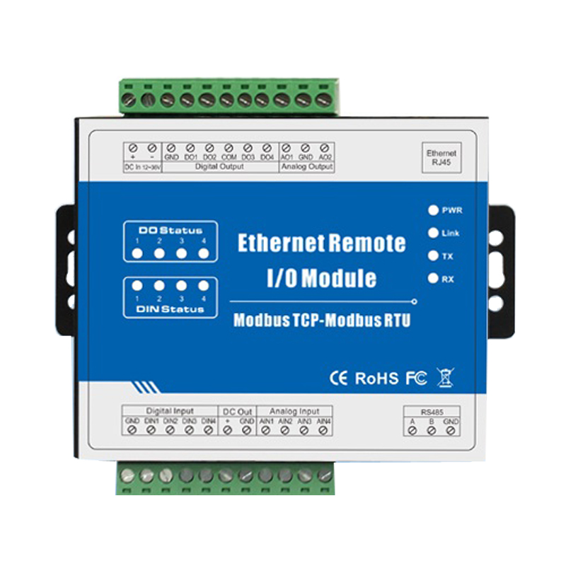 Modbus TCP Ethernet Remote IO <strong>Module</strong> Supports 10Mhz High speed Pulse Counter (4DI+4DO+RJ45+RS485) M110T