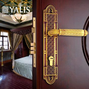 Front Door Locks Luxury Design Gold Polish Brass Door Handles - Buy ...