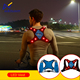Led light up comfortable breathable USB rechargeable blue orange green sport bicycle runners safety vest with zipper