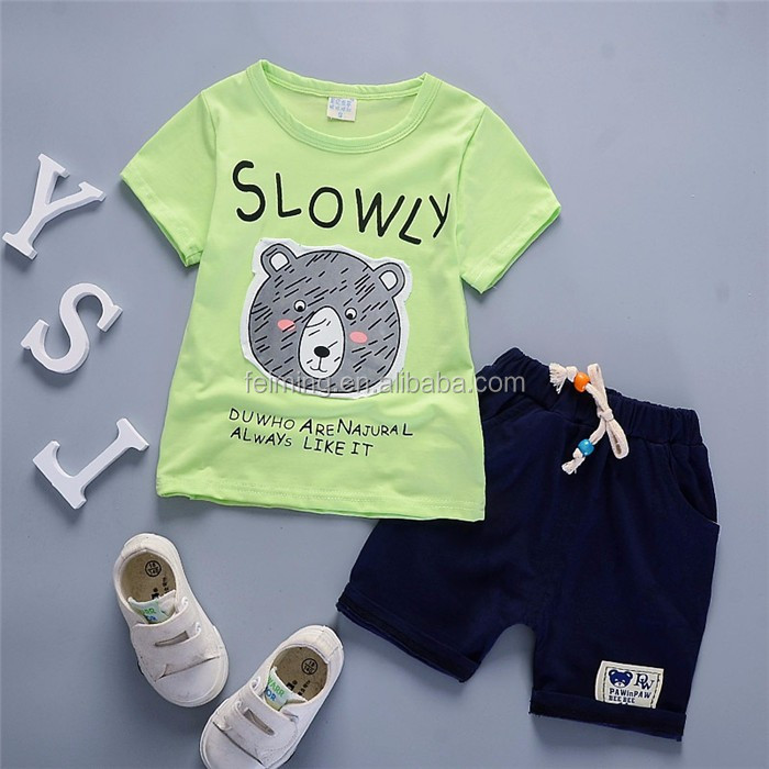 SS-735B latest design children boutique clothing sports suit kids clothes baby boy summer clothes 2 pieces sets