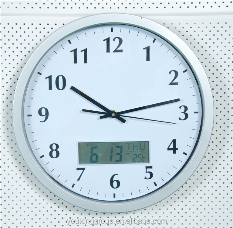 Decorative Wall Clock Instructions : Vintage home decor accurate abs wall clock with day date
