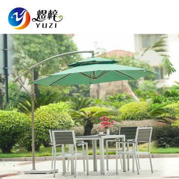Outdoor Patio Offset Hanging Big Banana Garden Umbrella, Cantilever Umbrella