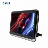 Android 10.1 inch car mount charger portable dvd player built-in battery, universal car headrest dvd removable