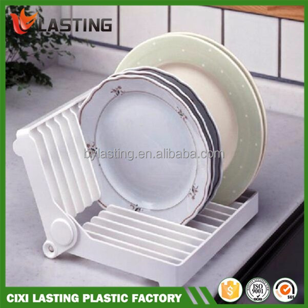 Foldable Kitchen Dish Drying Rack Plate Drainer Holder plastic storage plate rack