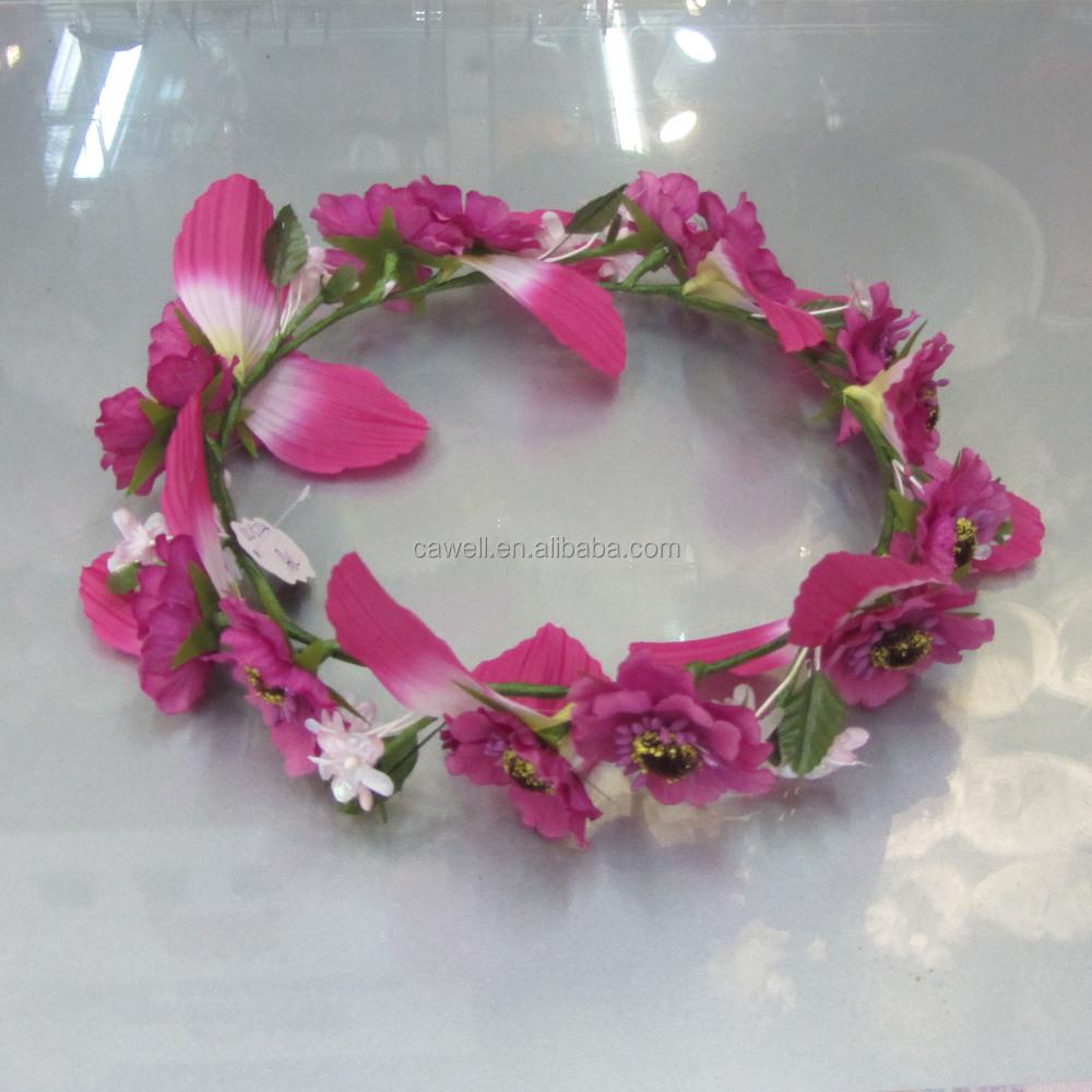 Wholesale Silk Artificial Flower Crown Hair Accessories Buy Hair