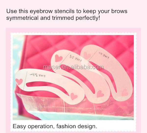 eyebrow shaper template. micropigmentation eyebrow makeup template 3 styles fashion design shaping tool, stencils for sale shaper m