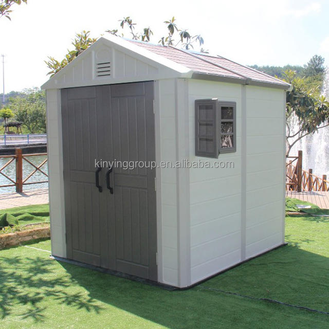 Kinying 2017 latest design plastic garden tool shed, the most popular style,  cheap price