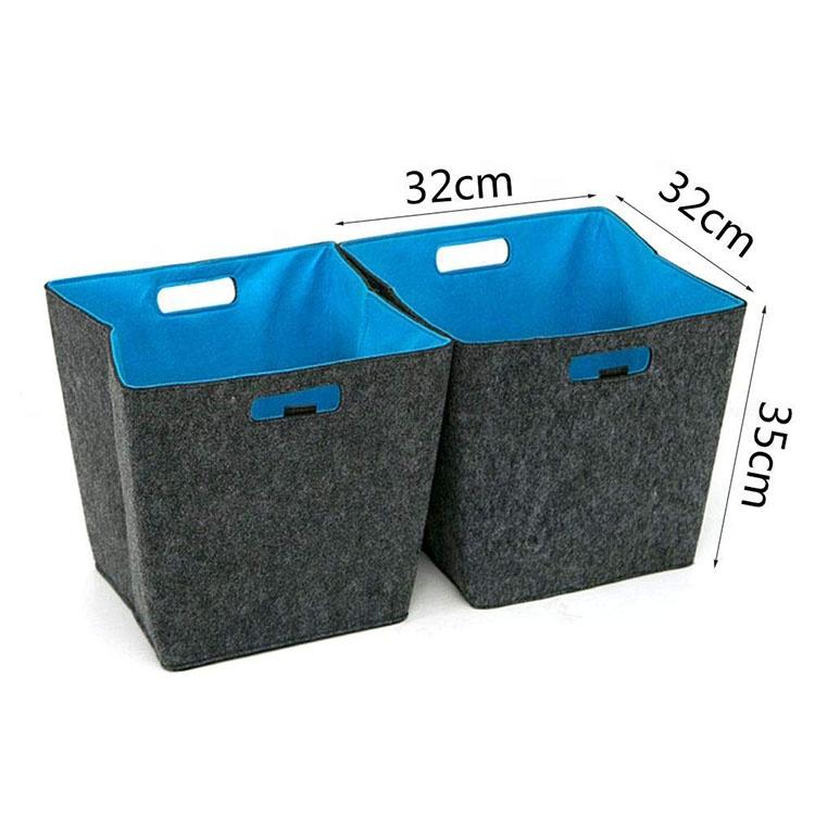 rangement pliable en tissu feutre panier a linge buy. Black Bedroom Furniture Sets. Home Design Ideas