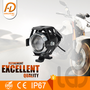 10W high power zoom custom elastic bands led motorcycle headlight