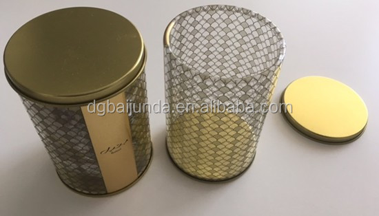 plastic round tube with tin lids