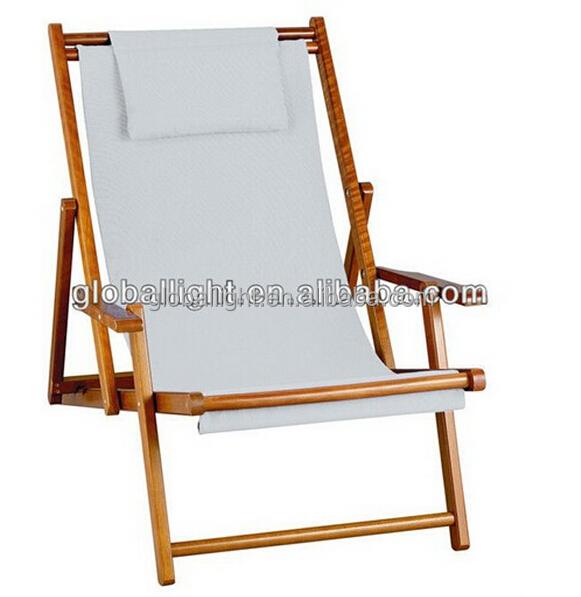 silla de playa de madera y silla plegable de playa al aire libre