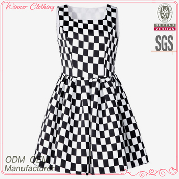 de4c36d63a8 OEM factory new arrival sexy names of girls dresses with black and white  checks