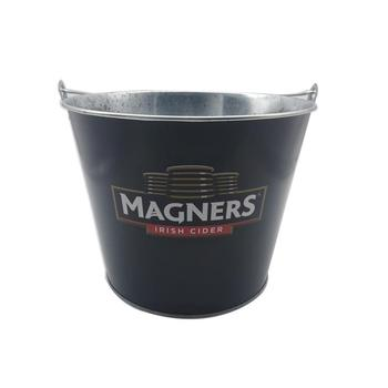 Black Color Matte Finishing Round Ice Bucket For Beer