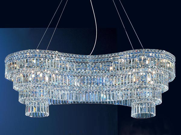 Crystal Bead Hanging Decoration Light For Stage Decoration