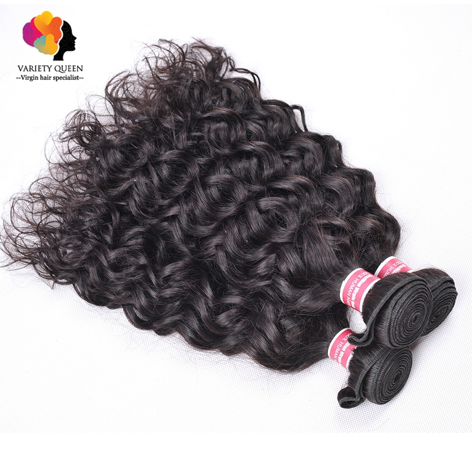 Mario Hair Brazilian Virgin Hair Weave Water Wave 3 Bundles Wet And Wavy Virgin Brazilian Curly Hair Remy Human Hair Extension