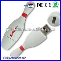 Custom Logo Bowling Pin USB Stick,2GB/4GB/8GB Bowling Pin USB Stick